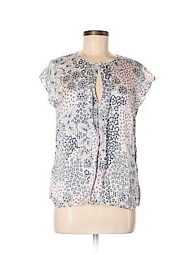 Massimo Dutti Short Sleeve Silk Top Size 8