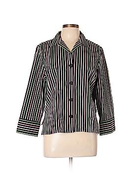 Jones New York Signature 3/4 Sleeve Button-Down Shirt Size 12