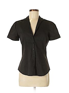 Zara Basic Short Sleeve Button-Down Shirt Size M