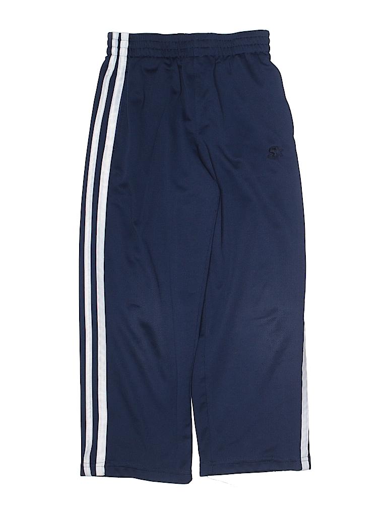 f991b245b Starter 100% Polyester Stripes Dark Blue Track Pants Size 6 - 7 - 33 ...