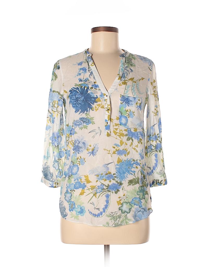 Zara Basic Women 3/4 Sleeve Blouse Size XS