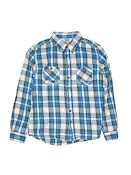 Cherokee Long Sleeve Button-Down Shirt Size 12 - 14