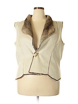 Coldwater Creek Faux Fur Vest Size XL