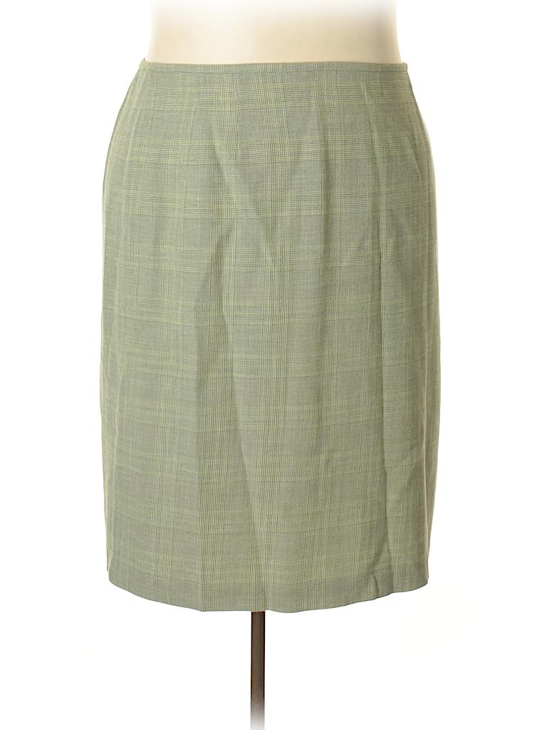 Linda Allard Ellen Tracy Women Wool Skirt Size 22 (Plus)
