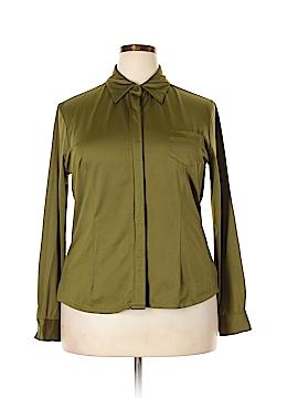Newport News Long Sleeve Button-Down Shirt Size 16W