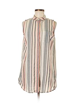 Ann Taylor Sleeveless Button-Down Shirt Size M