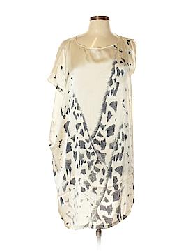 Qi Short Sleeve Silk Top Size L