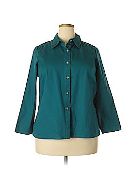 Bridgewater Studio Long Sleeve Button-Down Shirt Size 16WPetite (Petite)