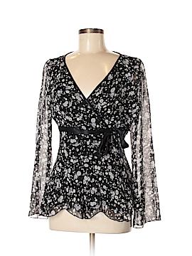 Nine West Long Sleeve Silk Top Size 8