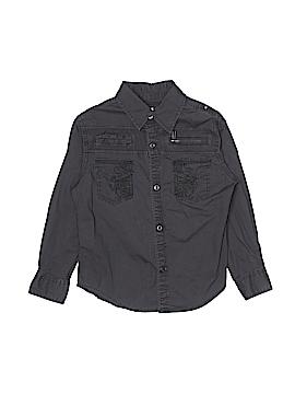 Guess Long Sleeve Button-Down Shirt Size 5 - 6