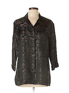 Chico's Design 3/4 Sleeve Blouse Size Lg (2)