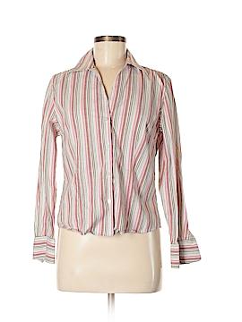 Petite Sophisticate Long Sleeve Button-Down Shirt Size M