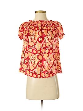 Peter Nygard Short Sleeve Silk Top Size 2