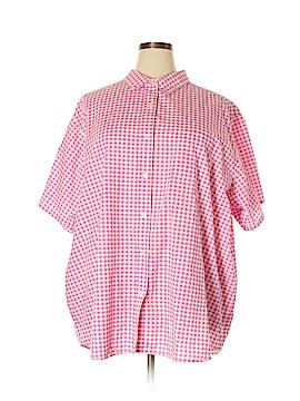 Roaman's Short Sleeve Button-Down Shirt Size 3X (Plus)