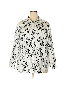 Lands' End Long Sleeve Button-Down Shirt Size 18W (Plus)