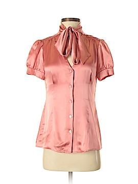 INC International Concepts Short Sleeve Silk Top Size 2