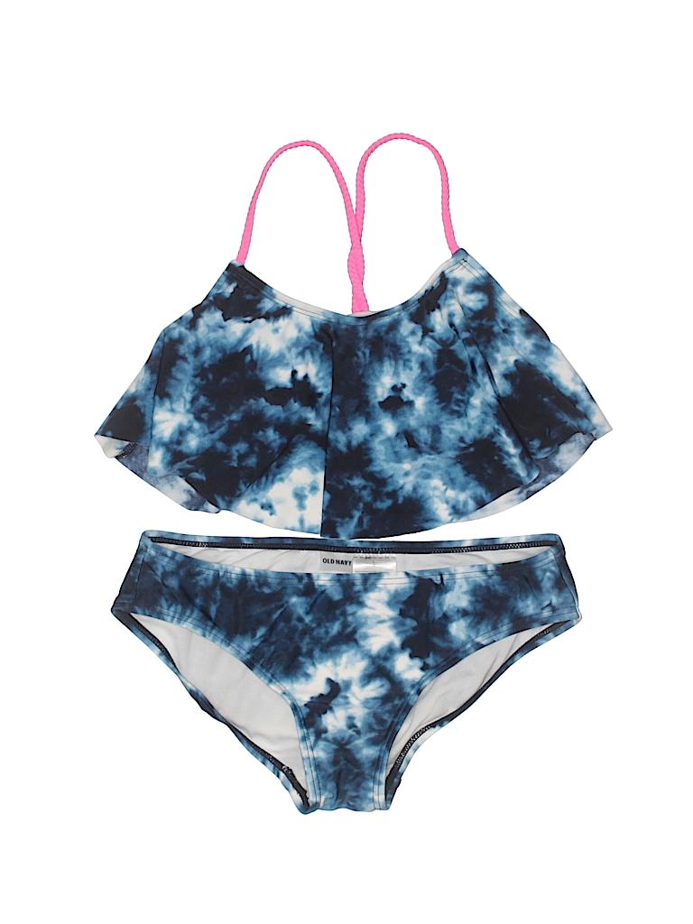 d17a05d41b35d Old Navy Tie Dye Dark Blue Two Piece Swimsuit Size L (Kids) - 45 ...