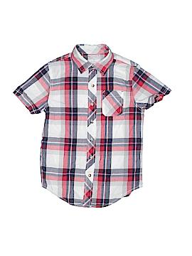 Arizona Jean Company Short Sleeve Button-Down Shirt Size 8 (Slim)