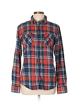 Ruff Hewn Long Sleeve Button-Down Shirt Size 18 (Plus)
