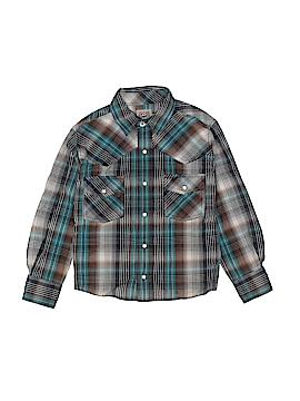 Cinch Long Sleeve Button-Down Shirt Size 10