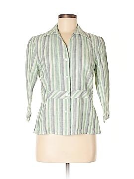 Covington 3/4 Sleeve Button-Down Shirt Size S