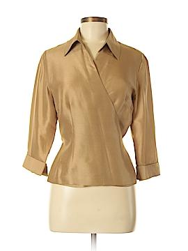 August Silk 3/4 Sleeve Silk Top Size 8