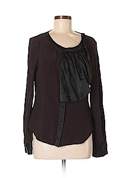 2b Rych Long Sleeve Silk Top Size 8