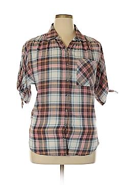 William Rast Short Sleeve Button-Down Shirt Size M
