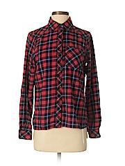 Ci Sono Women Long Sleeve Button-Down Shirt Size S
