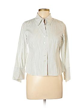AK Anne Klein Long Sleeve Button-Down Shirt Size 10 (Petite)