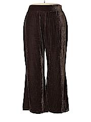 Dialogue Women Velour Pants Size 2X (Plus)