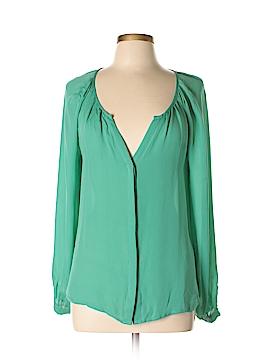 Scoop NYC Long Sleeve Silk Top Size M