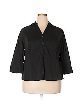 Elle 3/4 Sleeve Button-Down Shirt Size 2X (Plus)