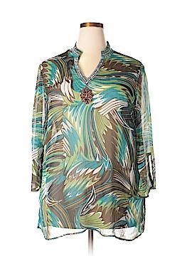 Adiva 3/4 Sleeve Blouse Size 2X (Plus)