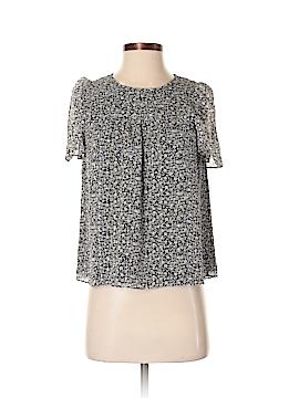 J. Crew Short Sleeve Silk Top Size 00 (Petite)