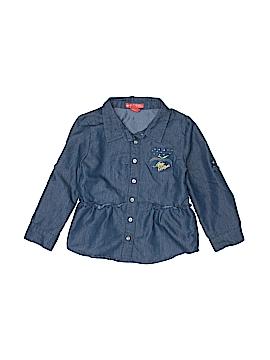 Apple Bottoms Long Sleeve Button-Down Shirt Size 4T