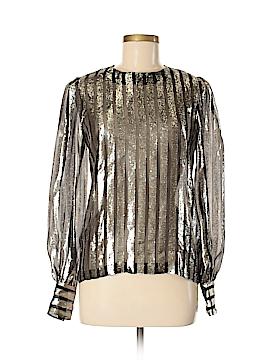 Jill Stuart Long Sleeve Silk Top Size Med (2)