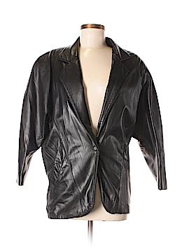 Habitat Leather Jacket Size 2X (Plus)