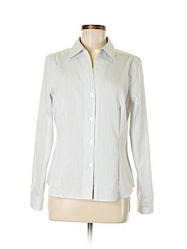 Anne Klein Long Sleeve Button-Down Shirt Size M