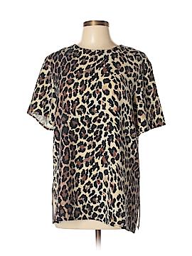 Clio Short Sleeve Silk Top Size L