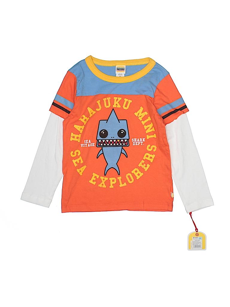 Harajuku Mini For Target 100 Cotton Graphic Orange Long Sleeve T