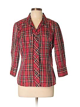 Agora 3/4 Sleeve Button-Down Shirt Size L