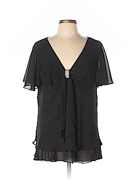 Onyx Nite Short Sleeve Blouse Size 16
