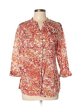 Westport 3/4 Sleeve Button-Down Shirt Size L