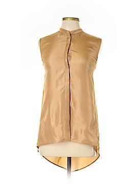Lafayette 148 New York Sleeveless Silk Top Size L