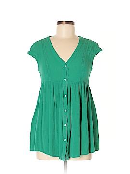 Vanessa Virginia Short Sleeve Button-Down Shirt Size XS
