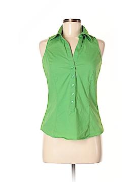 Zara Basic Sleeveless Button-Down Shirt Size M