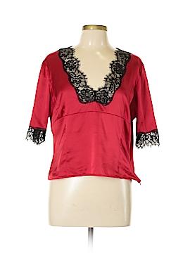 Moda International Short Sleeve Silk Top Size XL