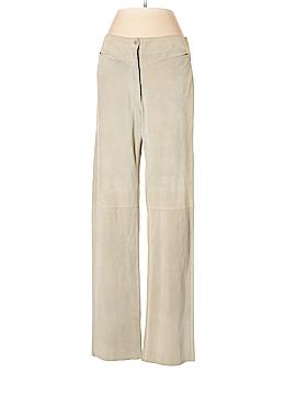 Armani Collezioni Leather Pants Size 4
