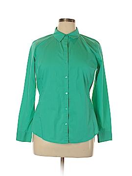 Worthington Long Sleeve Button-Down Shirt Size 14
